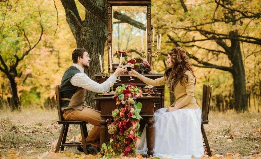 Особенности свадьбы в осенних тонах