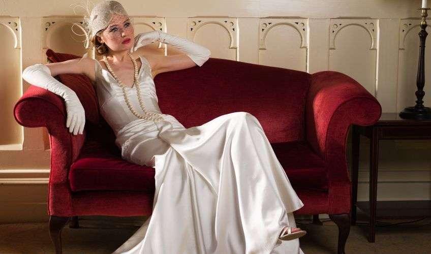 Модель винтажного свадебного платья