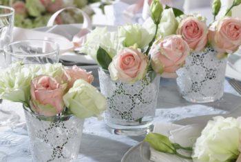 Идеи для украшения свадебного стола