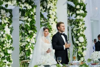 Гости на свадьбе Юдашкиной
